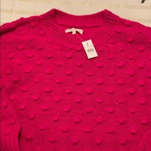 Lou and Grey for Loft hot pink sweater